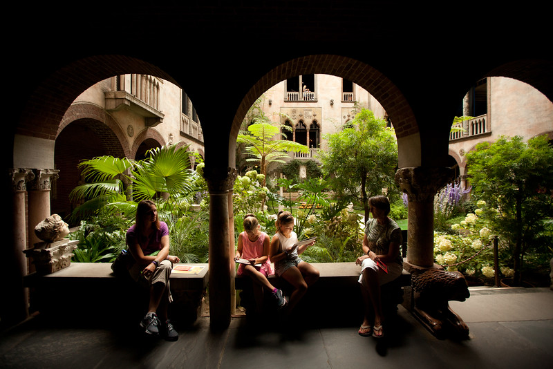 8/25/15 Boston, Mass. -- At center,  the courtyard in the Isabella Stewart Gardner Museum in Boston, Mass. August 24, 2015. Erik Jacobs for the New York Times