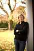 "11/16/07 Dedham, MA -- Portrait of Amy Beckwith at her home in Dedham, MA.  Beckwith was given a copy of Edith Wharton's ""House of Mirth"" which contained a letter that clarifies the mystery surrounding the death of the book's heroine, Lily.  November 16, 2007.  Erik Jacobs for the New York Times<br /> <br /> 30052657B"