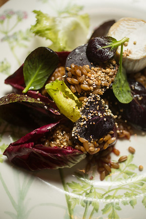 12/28/16 Concord, Mass. -- Forono beets with rye berries, winter radishes and Jig cow's milk cheese at Bondir in Concord, Mass. December 28, 2016. Erik Jacobs for the New York Times