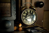 7/26/08 Jamestown, RI -- A bedside clock at Clingstone, built in 1905 and currently owned by Henry Wood, located in Narragansett Bay, RI.  July  26, 2008.  Erik Jacobs for the New York Times <br /> 30065452A