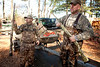 11/7/09 Rochester, MA -- From left, Jeff Reis and Paul Hunt unload guns from their boat after a duck hunt in Snipatuit Pond in Rochester, MA November 7, 2009.  Hunt was using a Beretta Xtrema2.  Erik Jacobs for the New York Times <br /> 30088017A