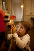 3/23/11 Jamaica Plain, MA -- Max Smith-Stern, 5, adds weels to his wooden ambulance during the Very Beginning Woodworking class at The Eliot School of Fine & Applied Arts March 23, 2011.  Erik Jacobs for the New York Times
