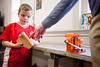"3/23/11 Jamaica Plain, MA -- John Langerman, 6, works on his current woodworking project, ""a bus that flys"" at the Very Beginning Woodworking class at The Eliot School of Fine & Applied Arts in Jamaica Plain, Mass. March 23, 2011.  Erik Jacobs for the New York Times"