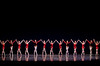 "2/5/09 Boston, MA -- Members of the Boston Ballet perform Emeralds, Rubies, Diamonds, the _______ act of Balanchine's ""Jewels"" February 25, 2009.  Erik Jacobs for the New York Times <br /> 30077221A"