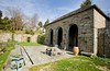 4/26/08 Middletown, RI -- A freestanding teahouse looking out on a walled orchard at 330 Gray Craig Rd on the market for $6.95 million in Middletown, RI, 2008.  Erik Jacobs for the New York Times <br /> 30060965A
