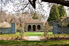 4/26/08 Middletown, RI -- A view past a rose garden, through a walled orchard looking toward a freestanding teahouse at 330 Gray Craig Rd on the market for $6.95 million in Middletown, RI, 2008.  In the orchard are pear, apple and peach trees.  Erik Jacobs for the New York Times <br /> 30060965A