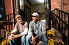 "10/30/07 Boston, MA -- Portrait of (from left) John and Bert Jacobs at their ""Life is Good"" apparel store in Boston, MA, 2007.  Erik Jacobs for the New York Times<br /> <br /> 30051457A"
