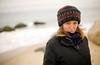 1/17/08 Chilmark, MA -- Portrait of Jan Buhrman, on the beach on the coast of Martha's Vineyard.  Erik Jacobs for the New York Times
