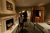 11/15/10 Boston, MA -- Museum patrons explore the Oak Hill Bed Chamber, one of three rooms from Oak Hill, the country house of Elizabeth Derby West in the new Art of the Americas wing at the Museum of Fine Arts in Boston, Mass. Nov. 15, 2010.  Erik Jacobs for the New York Times