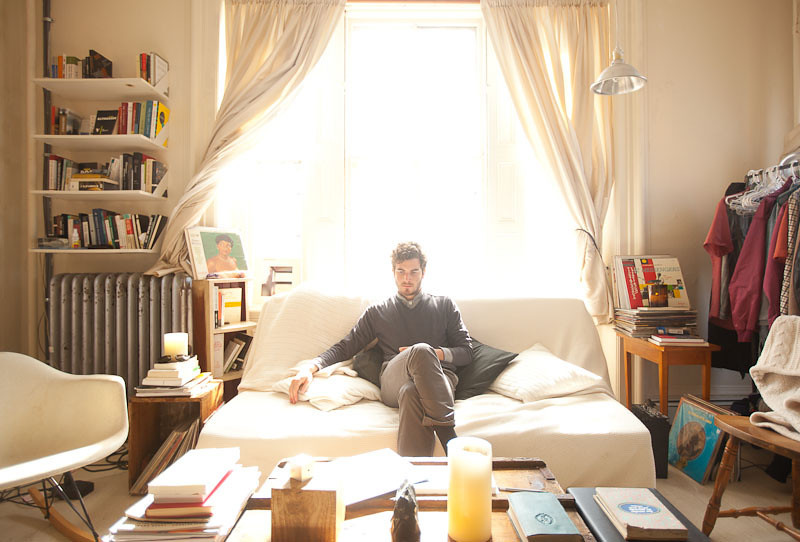 2/27/12 Providence, Rhode Island -- Portrait of musician Nicolas Jaar at home in his studio apartment in Providence, Rhode Island February 27, 2012.  Jaar is also, a comparative literature major at Brown University.  Erik Jacobs for the New York Times