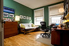 "3/22/09 Brookline, MA -- An ""after"" photo of Sara Rimer's reorganized home office in Brookline, MA.  Erik Jacobs for the New York Times<br /> 30078666A"