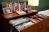 3/22/09 Brookline, MA -- Underused filing cabinets, an early and ineffective fix for Sara Rimer's organizational problems, at her home office in Brookline, MA.  Erik Jacobs for the New York Times<br /> 30078666A