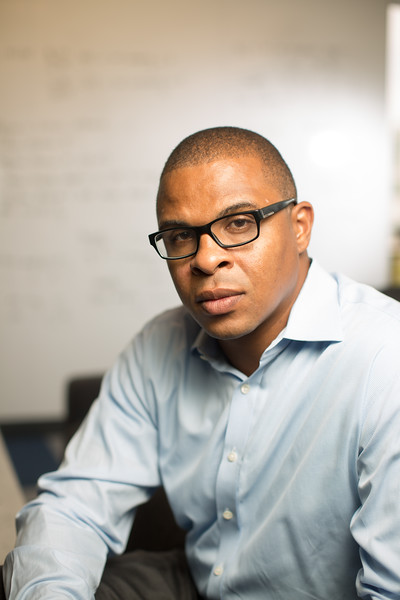 7/7/16 Cambridge, Mass. -- Portrait of Roland Fryer a Harvard Researcher who has published surprising results from a new study on police shootings and brutality.  Photo by Erik Jacobs for the New York Times