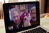 12/18/11 Cambridge, Mass. -- In Cambridge, Mass. Ayelet Rothman-Shore, 3, and her brother Rafael, 17 months, Skype with their grandparents Robert and Deborah Rothman in Rochester, NY December 18, 2011.  Erik Jacobs for the New York Times