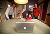 12/18/11 Cambridge, Mass. -- In Cambridge, Mass. Jeremy Rothman-Shore and his wife Aviva help their children Ayelet Rothman-Shore, 3, and her brother Rafael, 17 months, Skype with their grandparents Robert and Deborah Rothman in Rochester, NY December 18, 2011.  Erik Jacobs for the New York Times