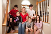 3/24/12 Reading, Mass. -- Portrait of the Thomson family, from left, Matt, 13, Leah, 8, Patti, Kevin, 6, Mike, 15, and Lisa Thompson, 10, at their home in Reading, Mass. March 24, 2012.  Erik Jacobs for the New York Times