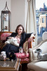 "1/3/10 Boston, MA -- Portrait of Sherry Turkle, MIT professor of the Social Studies of Science and Technology at her home in Boston, Mass. January 3, 2011.  Turkle is pictured with a robotic dog, a robotic seal called ""Paro"" and a collection of Furbies.  Turkle is the author of an upcoming book ""Alone Together - Why We Expect More From Technology and Less From Each Other.""  Erik Jacobs for the Chronicle of Higher Education"