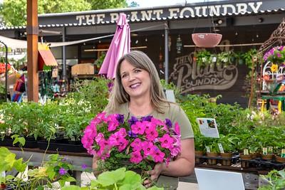 Angela Pratt, owner of The Plant Foundry, for comstocksmag.com