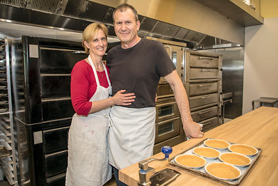 Kira and Fred Babich of the Real Pie Company. Photos and web-only story for Comstock's in May 2018.