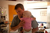8/25/11 Boston, Mass. --  Mike Fitzgerald prepares his daughter Saoirse for chemotherapy treatments at Children's Hospital Boston, August 25, 2011.