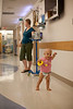 8/25/11 Boston, Mass. --  14-month-old Saoirse Fitzgerald walks the halls of Children's Hospital Boston, with her mom and her IV cart in tow while undergoing chemotherapy treatment August 25, 2011.