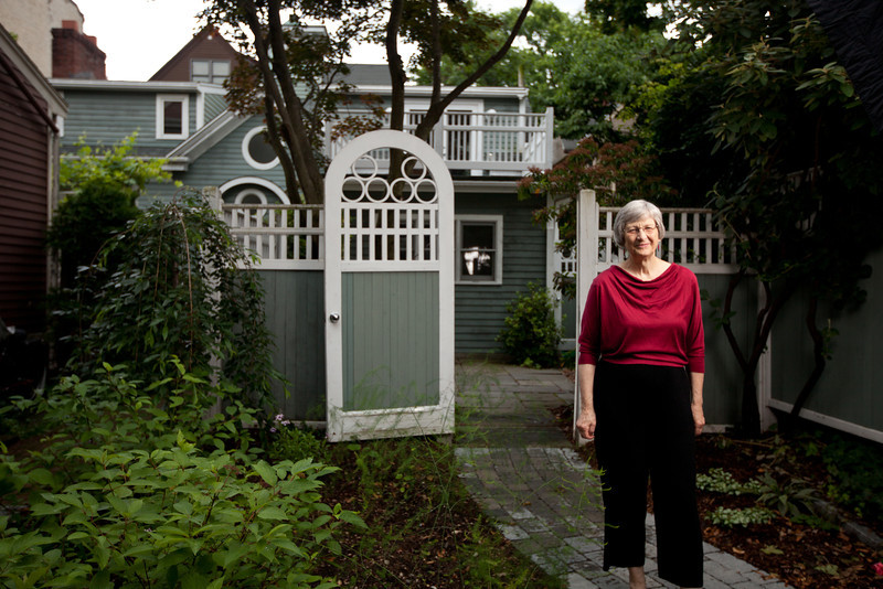 6/25/12 Cambridge, MA -- Portrait of Harvard history professor Laurel Ulrich at her home in Cambridge, Mass. June 25, 2012.  Photo by Erik Jacobs