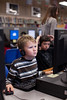 11/8/10 Randolph, Mass. -- Fourth grade student Holden Nilsen, 9, uses a computer-based activity created by the Concord Consortium to learn an evolution lesson on competition for resources at Elizabeth G Lyons Elementary School in Randolph, Mass. Nov. 8 , 2010. Erik Jacobs for Education Week