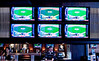 3/9/10 Boston, MA -- A view of some of the high-def TV sets above the 44-seat mahogany bar at Jerry Remy's Bar and Grill in Boston, March 9, 2010.  Erik Jacobs for the Boston Globe
