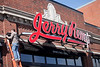 3/9/10 Boston, MA -- A worker puts some finishing touches on Jerry Remy's Bar and Grill opening mid-March on Bolyston Street in Boston, March 9, 2010.  Erik Jacobs for the Boston Globe