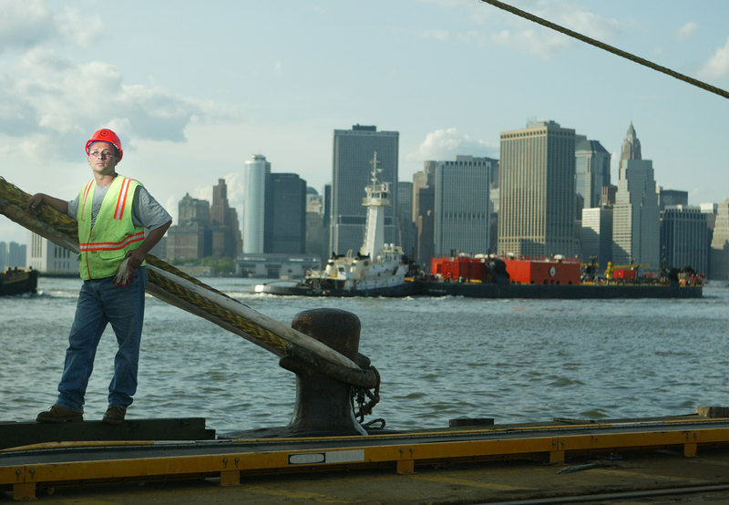 7/6/06 Brooklyn, NY -  Portrait of stevedore Russel Amato.  <br /> <br /> Photos of stevedores at American Stevedoring Inc. in Brooklyn.  Photo Credit Erik Jacobs/The New York TimesAssignment  30026327A
