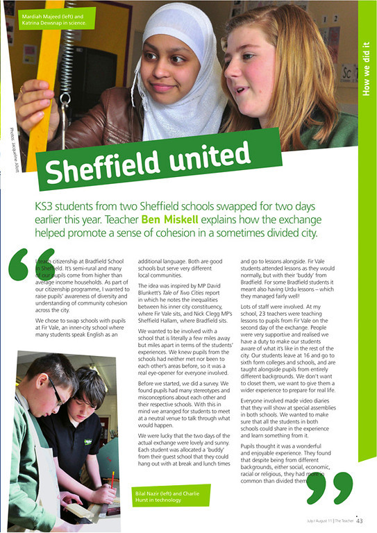 The Teacher - National Union of Teachers Magazine - July/August 2011