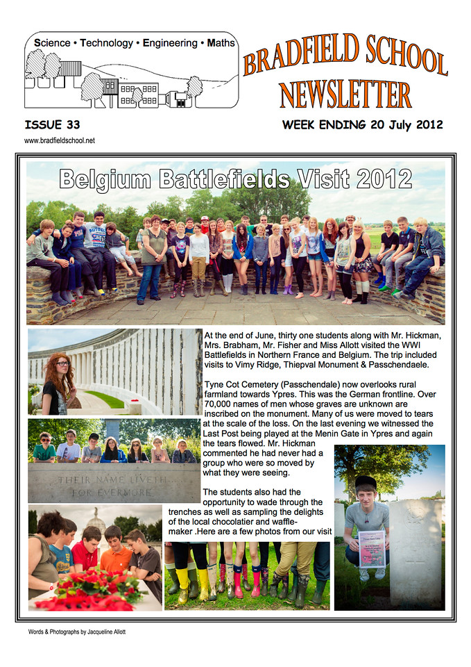 Bradfield School - July 2012 Newletter