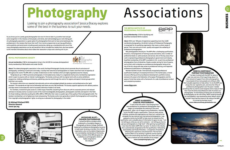 Photography Associations Page 1 - Turning Pro Magazine October 2012