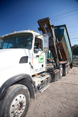 sheldon admore at a construction container delivery