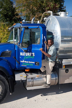 raymond hamilton popping in/out of brand new grease septic truck