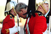 Prince Charles (centre) passes the Honour Guard as he visits Canadian soldiers and their families at CFB Petawawa, Ont. outside of Ottawa, Wednesday, November 11, 2009. THE CANADIAN PRESS/Fred Chartrand