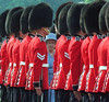 (OTT105)OTTAWA, June 30--ROYAL INSPECTION--Queen Elizabeth inspects the Governor General's Foot Guards during a presentation of new colors for the Regiment at   Government House in Ottawa Monday. (CP PHOTO) 1997 (stf-Fred Chartrand)fxc
