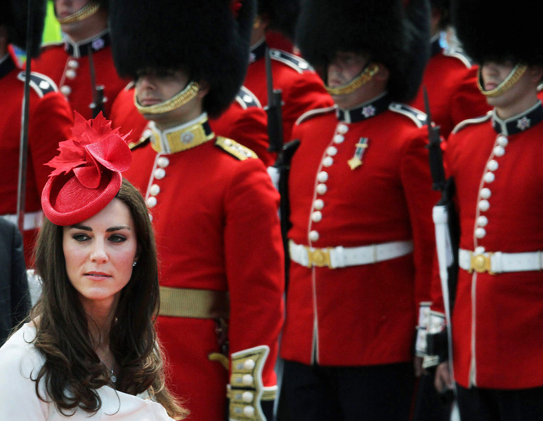Prince William's wife Kate, Duchess of Cambridge, arrives for Canada Day celebrations on Parliament Hill in Ottawa, Ontario, Friday, July 1, 2011. (AP Photo/The Canadian Press, Fred Chartrand)