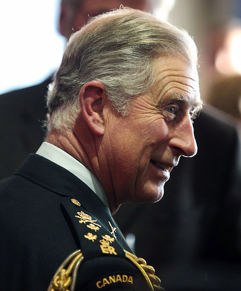 Prince Charles wears a Canadian Army uniform as he visits soldiers and their families at CFB Petawawa, Ontario outside of Ottawa, Wednesday, November 11, 2009. THE CANADIAN PRESS/Fred Chartrand