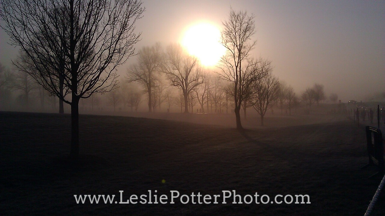 Foggy Sunrise at Keeneland Race Course