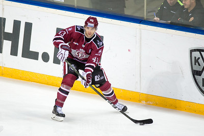 Tim Sestito (43) in the KHL regular championship game between Dinamo Riga and Severstal Cherepovets, played on January 3, 2017 in Arena Riga