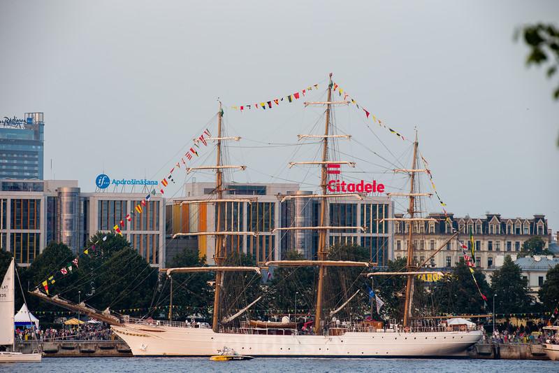 Cisne Branco of Brazilian Navy in Riga, Tall Ships Race 2013