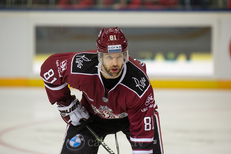 Colton Gillies (81) in the KHL regular championship game between Dinamo Riga and Dynamo Moscow, played on October 3, 2016 in Arena Riga