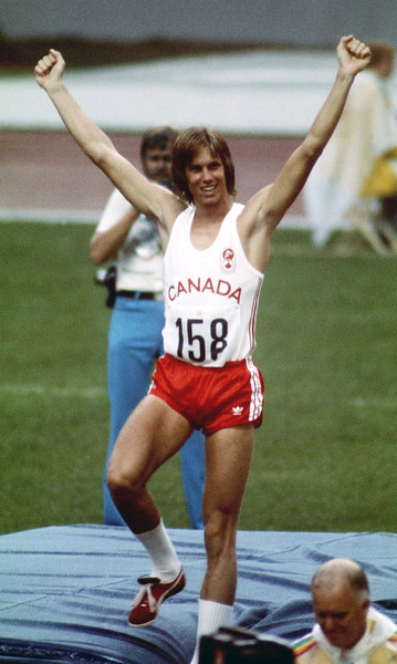 Twenty year-old Greg Joy of Vancouver cleared the high jump during Olympic finals competition Aug. 1, 1976 to win the silver medal in the event. (CP PHOTO/ Fred Chartrand)
