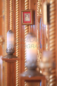 A small image of Mary with child on the icon screen at St. Josaphat Ukrainian Catholic Church in Bethlehem, PA. photo/Don Blake Photography