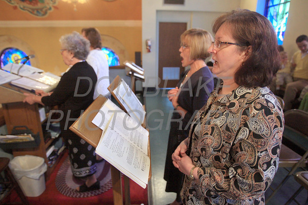Nearly everything in the liturgy is sung unaccompanied during mass at St. Josaphat Ukrainian Catholic Church in Bethlehem, PA. photo/Don Blake Photography