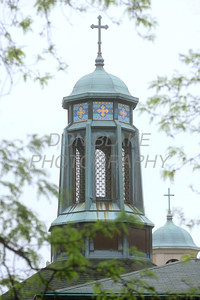 The center steeple over the dome in St. Josaphat Ukrainian Catholic Church in Bethlehem, PA. photo/Don Blake Photography