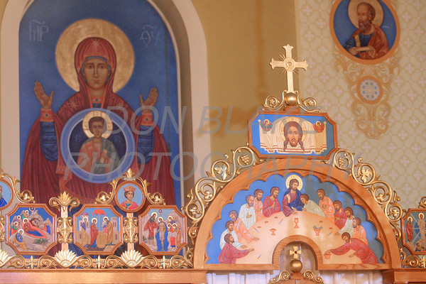 The top of the icon screen that separates the priest from congregation at St. Josaphat Ukrainian Catholic Church in Bethlehem, PA. photo/Don Blake Photography