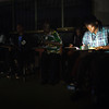 Monrovia, Liberia October 10, 2017 - Election observers working after sunset on election day.