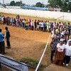 Monrovia Liberia October 10, 2017 - Voters stand in line to vote in the 2017 presidential election.